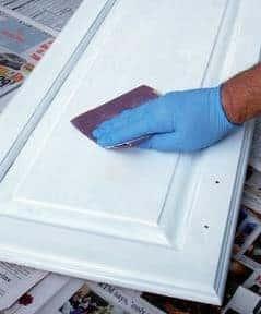 hand sanding cabinets